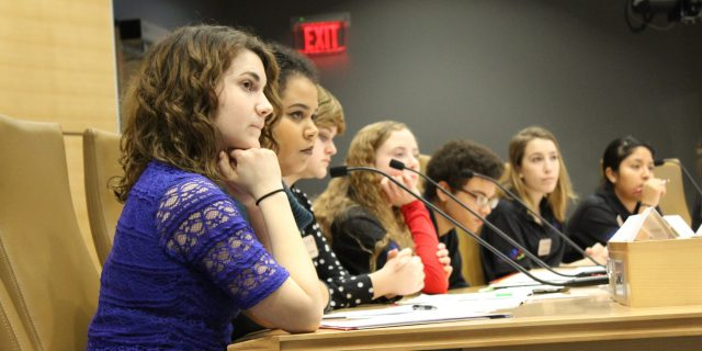 Minnesota Youth Council listening to bill