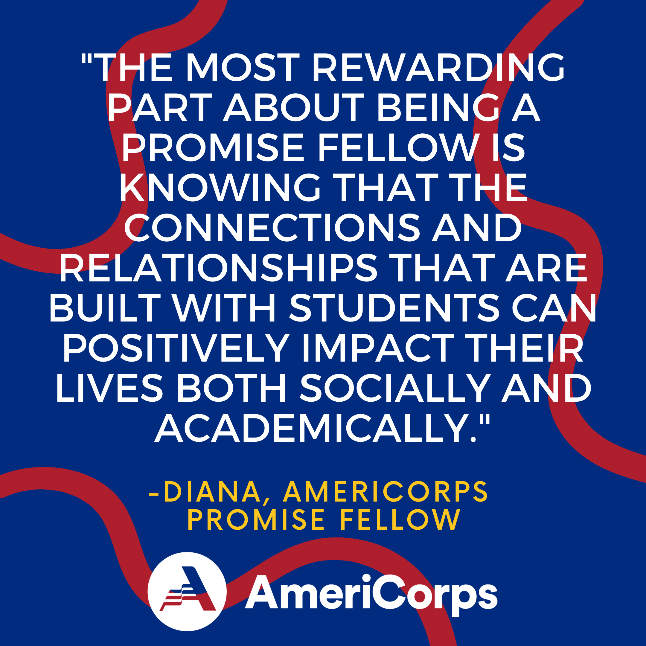 Quote from student about Promise Fellow impact