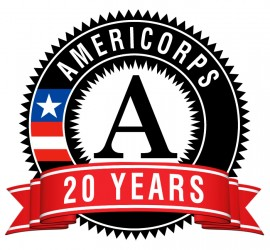 AmeriCorps 20 years logo