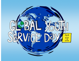 Global Youth Service Day's logo in 2011