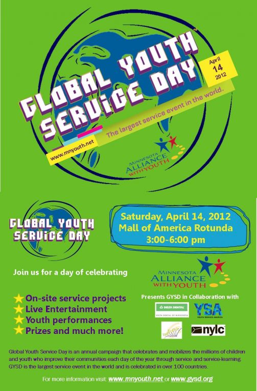 Global Youth Service Day graphic