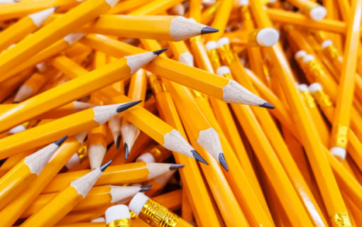 Pile of yellow pencils