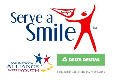 Serve a Smile, Delta Dental, and MN Alliance with Youth logo