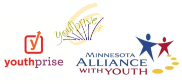logos for MN Alliance with Youth, Youthprise and Youthrive